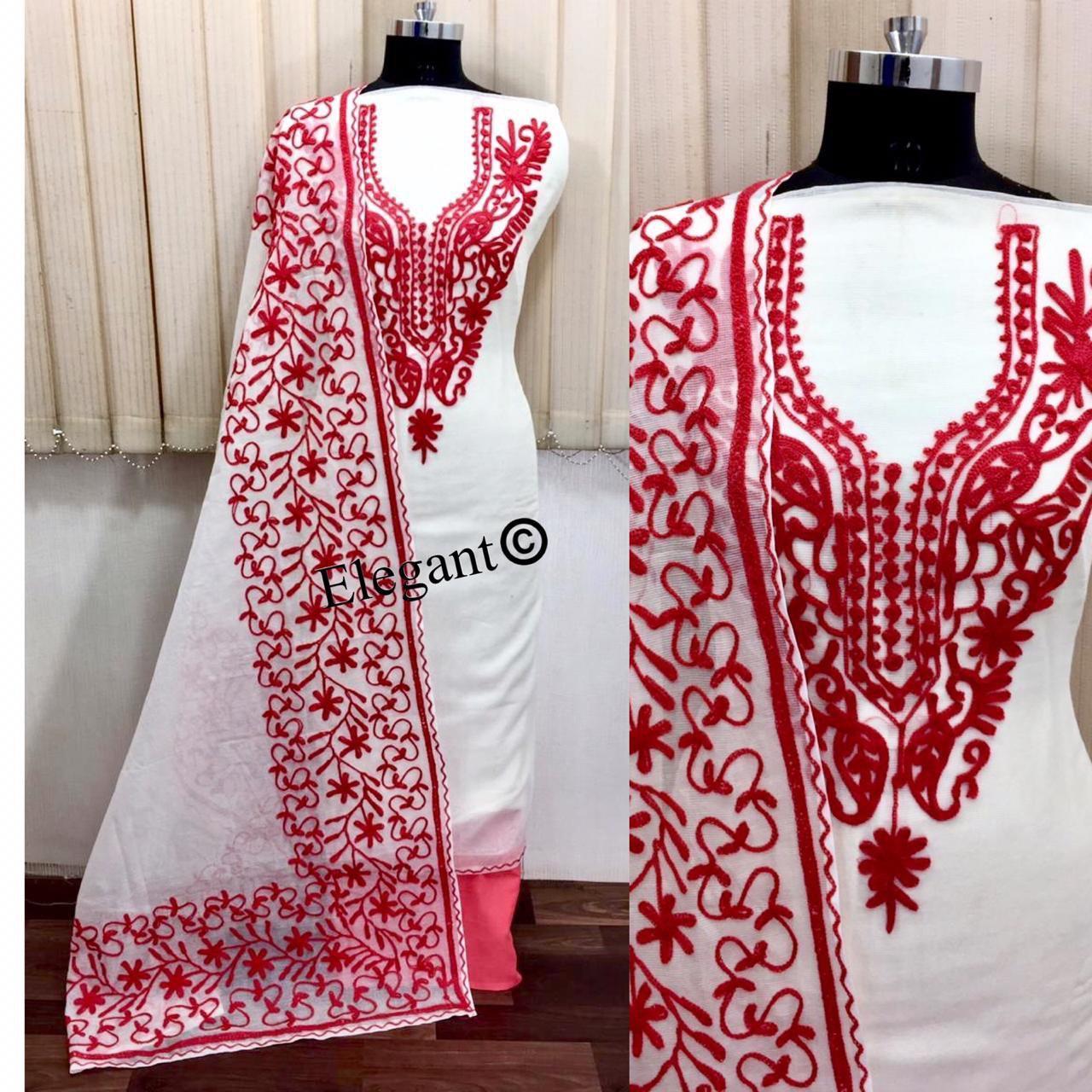 Latest Chanderi Dress Material