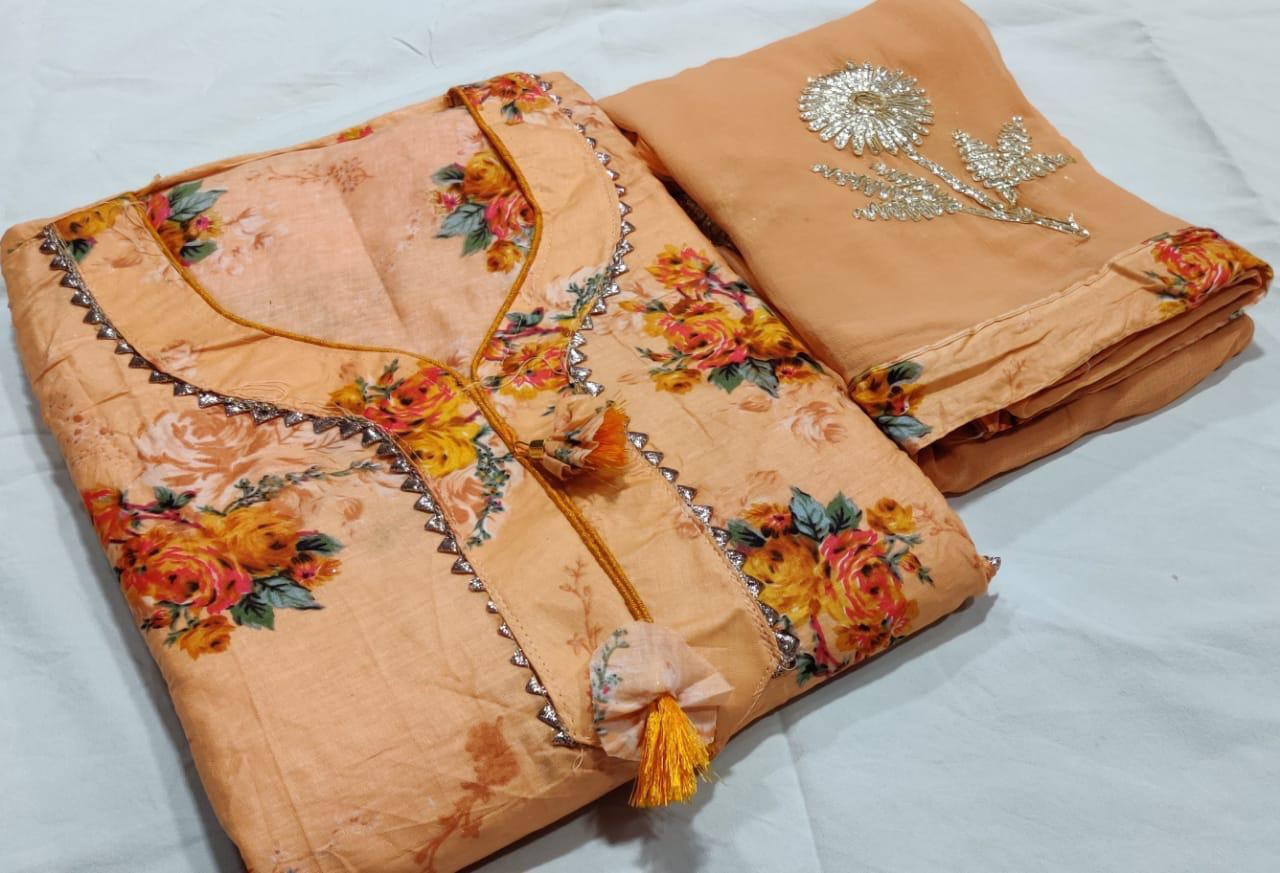 Fashionable Cotton Dress Material