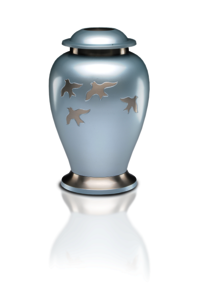 New Burgundy Mother of Pearl Inlay Dove Urn