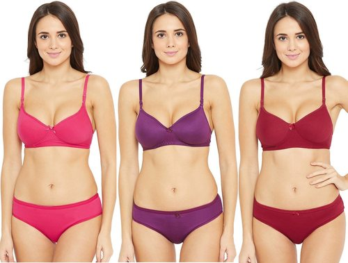 Padded Wirefree Push Up T-Shirt Bra & Hipster Panty Set
