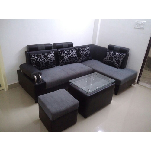 4 Seater L Shape Sofa Set