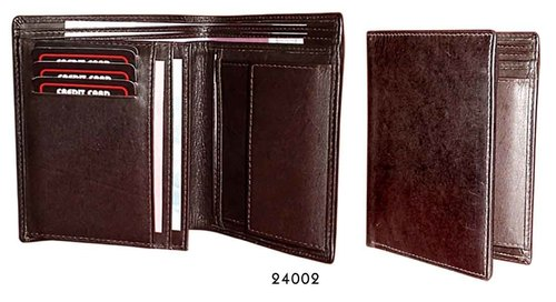 Mens Vertical Bifold Leather Wallet