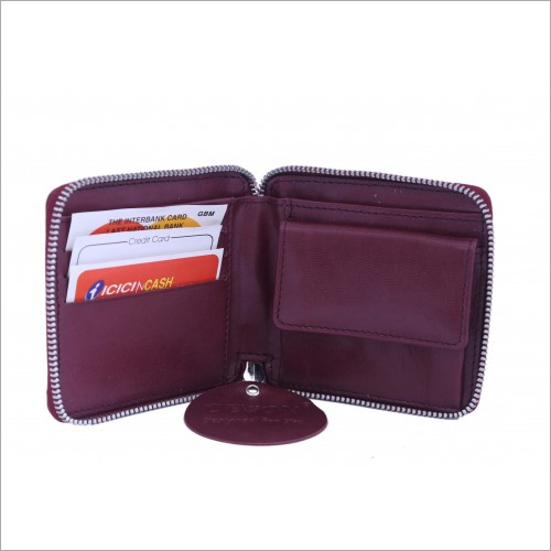 Ladies Zipper Small Wallet