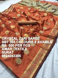 Crystal Zari Saree