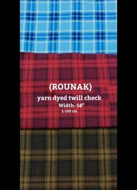 Rounak yarn dyed twill check