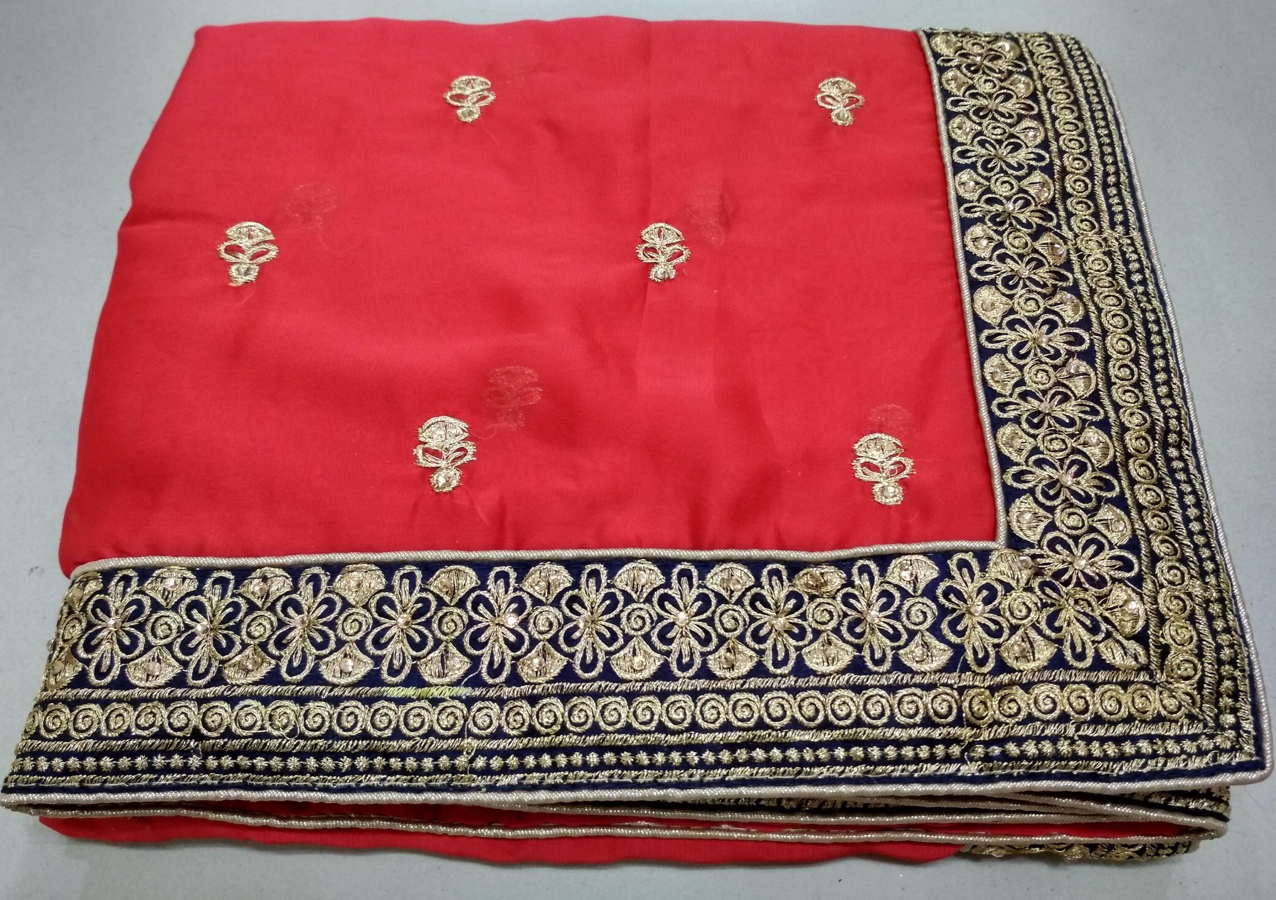 Rangoli Georgette Embroidery Saree