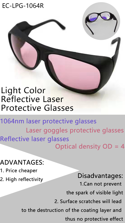 Light Color Reflective Laser Protective Glasses