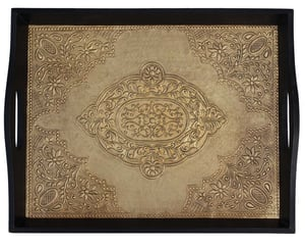 Wooden Ottoman Service Trays