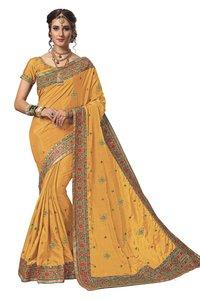Kacchi Embroidery border saree collection