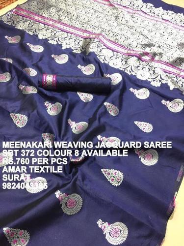 Meenakari Weaving Jacquard Saree