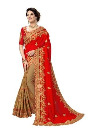 Embroidered Silk Saree collection