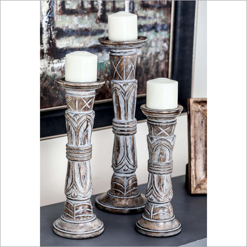 Wooden Decorative Candle Stand