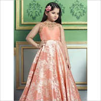 Kids Long Silk Gown