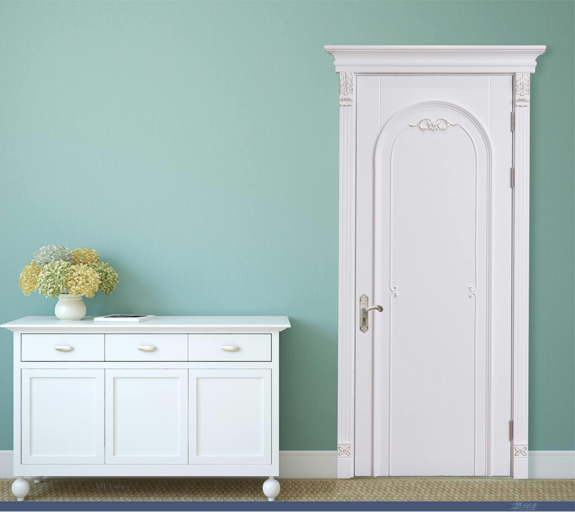High Quality Solid Oak Wood Panel Door