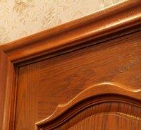 Solid Red Oak Wood Panel Door