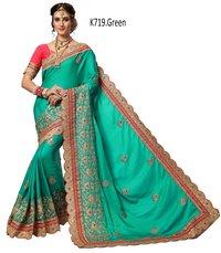 Heavy Embroidered Saree