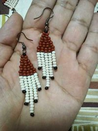 Brown Creamish Earring