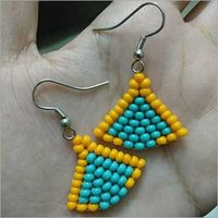 Orange Turquoise Earring