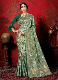 Banarasi Silk Latest Designer Party Wear Zari Work Sarees Collection