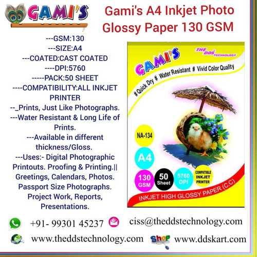 A4 130 GSM photo paper distributor
