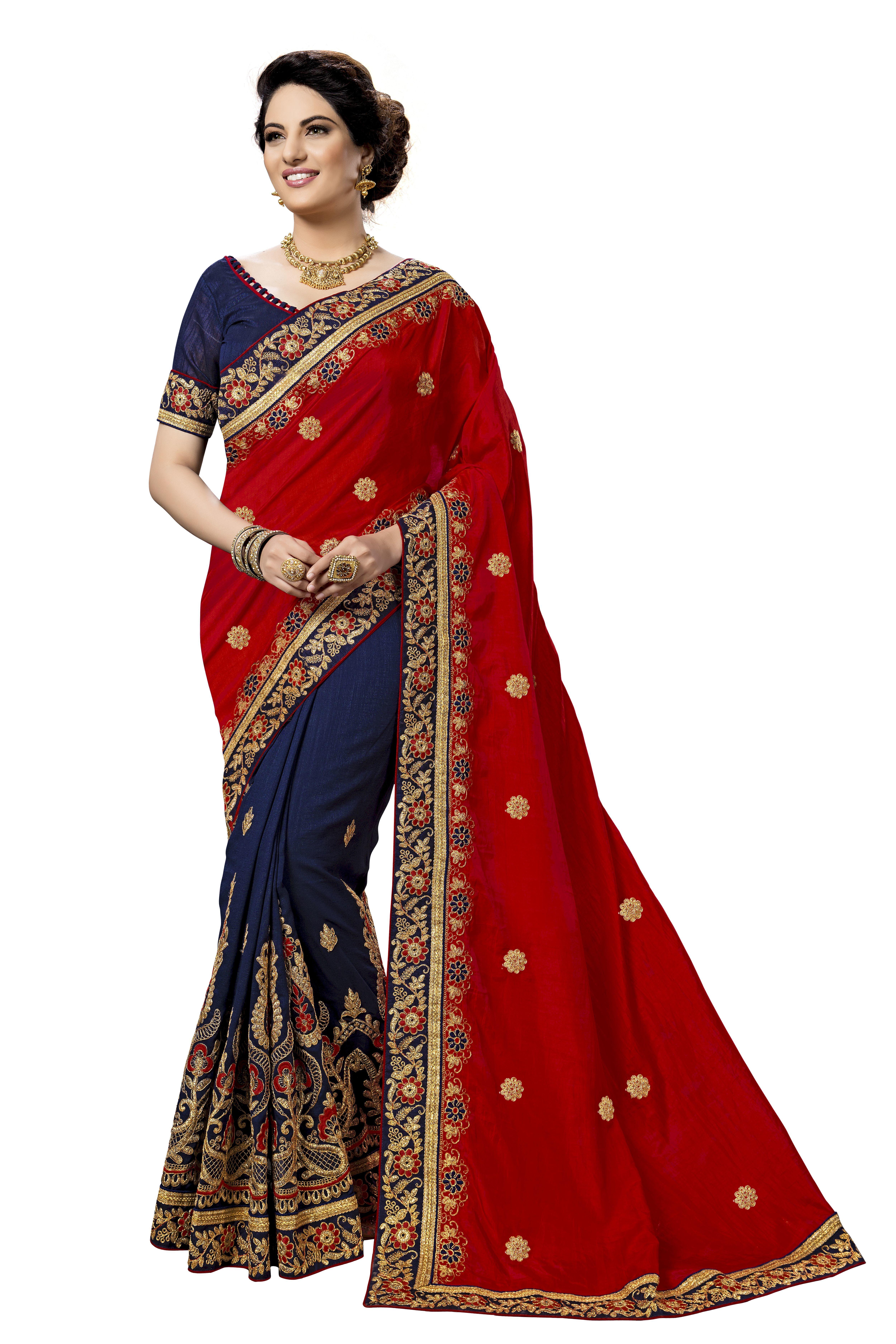 Embroidery work saree