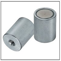 Cylindrical pot magnets with inner threads