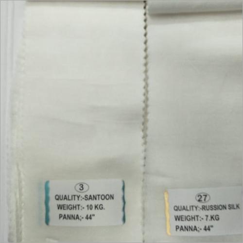 White Plain Fabric