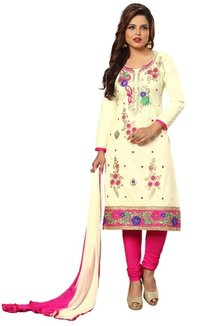 Cotton Embroidery Salwar Suit(Unstitched)