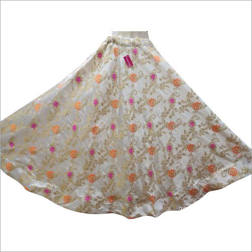 Girls Satin Brocade Skirt