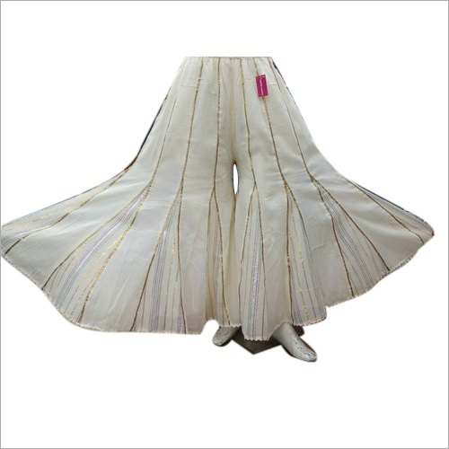 Ladies White Sharara