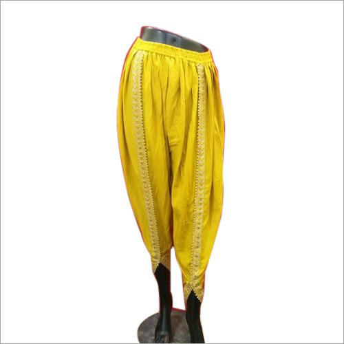 Yellow And Also Available In Multicolor Ladies Casual Tulip Pant