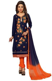 Cotton Embroidery Salwar Suit Unstitched