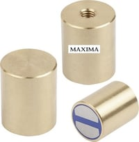 Brass Pot magnets with inner screw