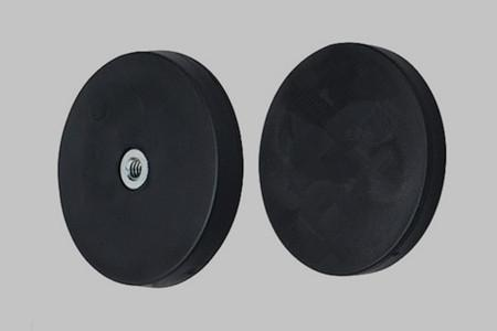 Pot magnets rubber-coated