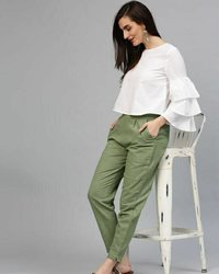 Ladies Plain Cotton Jeggings