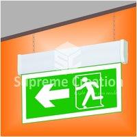 Edge Lit Fire Exit Signage