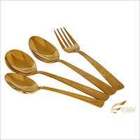 Disco Gold Cutlery Set
