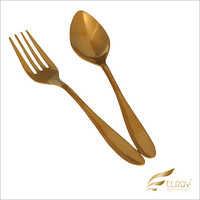 Neckless Gold Cutlery Set