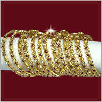 Ladies Fancy Gold Plated Bangles