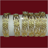 Ladies Gold Plated Intimation Bangles