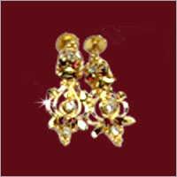 Ladies Designer Gold Plated Earrings