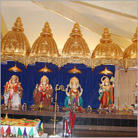 Temple Chatar Umbrella Gold Plating Service