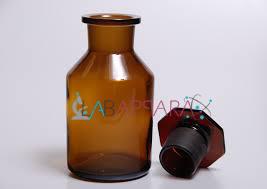 Reagent Bottle W.M.F.S  Amber colours (Soda Glass)