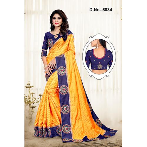 Zig Zag Silk Fabric