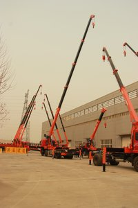 Qys-8iv 5 Telescopic Boomed 8 Tons Hydraulic Loader Crane
