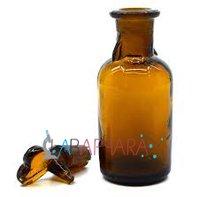 Dropping Bottles Amber T.K Pattern (Soda Glass)