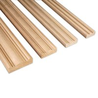 Uncoated solid wood moulding