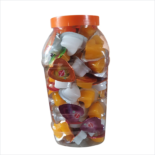 LOVE JELLY MIXED FLAVOR MRP RS.1/-  100 PCS PER JAR