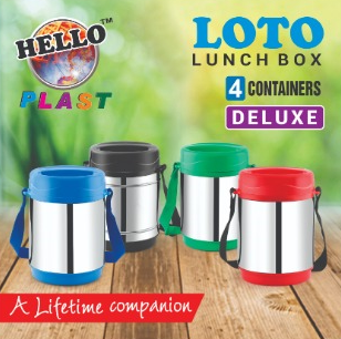 Loto Stainless Steel Lunch Box