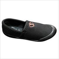 Ladies Black Slip On Canvas Shoes